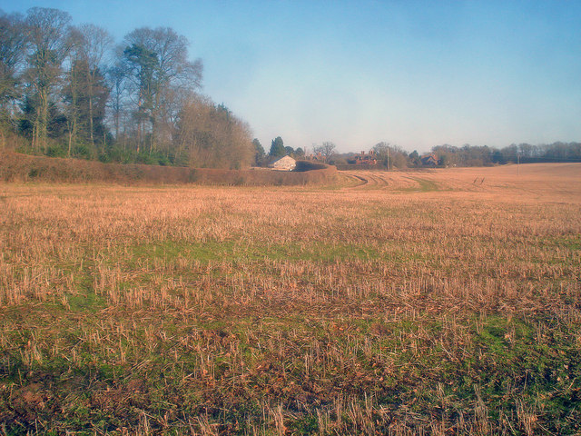 Stubble field south of Bromesberrow Nurseries