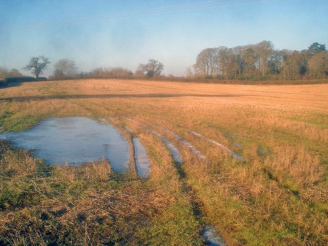 Ice patch near Aubreys Farm
