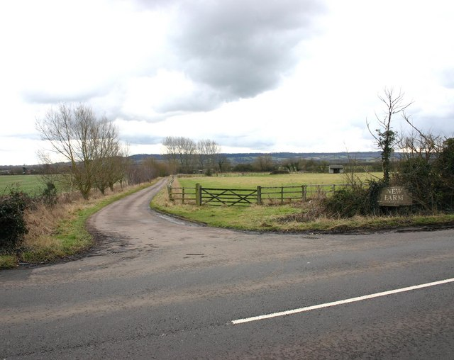 Entrance to New Farm from Southam Road
