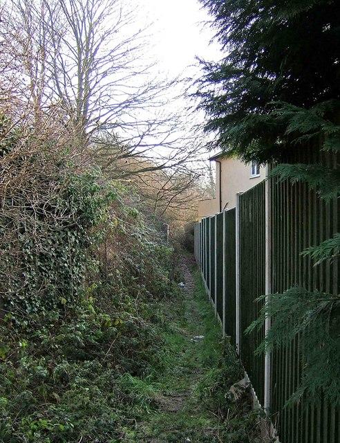 Narrow footpath