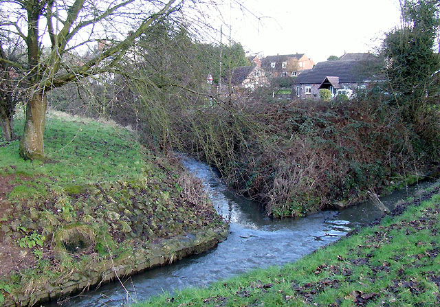 Wom Brook in Wombourne, Staffordshire