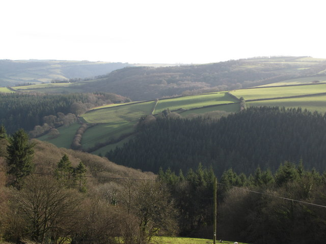 View over the Washford River Valley