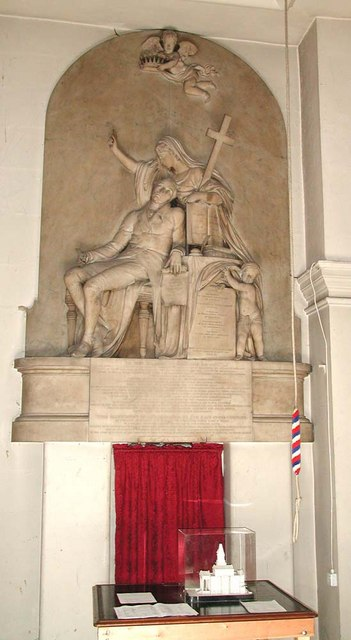 St George, Bloomsbury Way, London WC1 - Wall monument