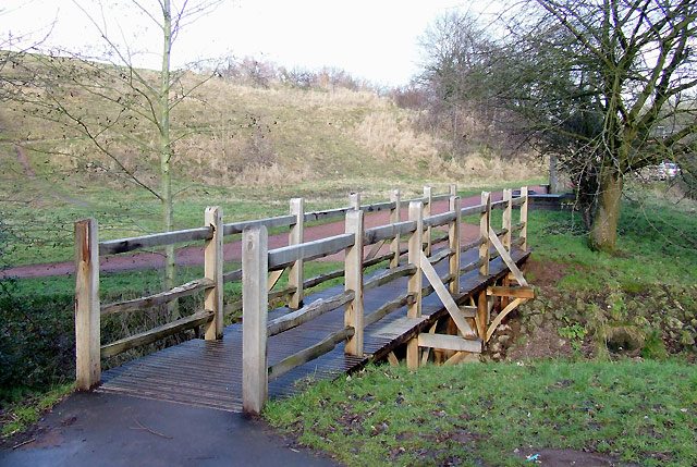Footbridge across the Wom Brook, Wombourne, Staffordshire