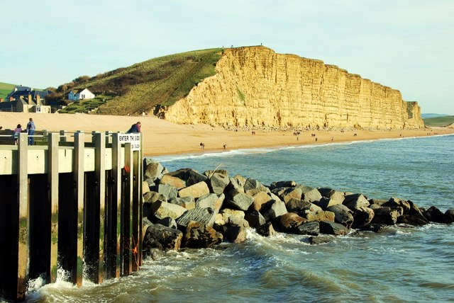 West Bay: entrance to harbour