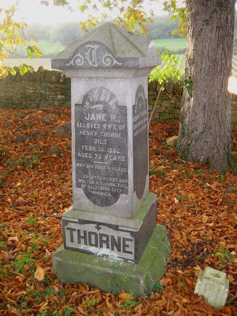American gravestone - Stoke sub Hamdon