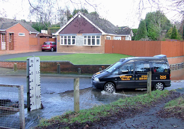 The taxi in the ford, Wombourne, Staffordshire