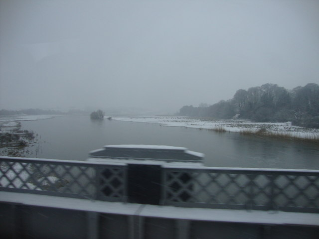 River Towy in the snow