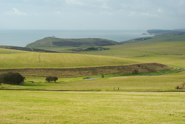 View Towards the Belle Tout Lighthouse, Sussex