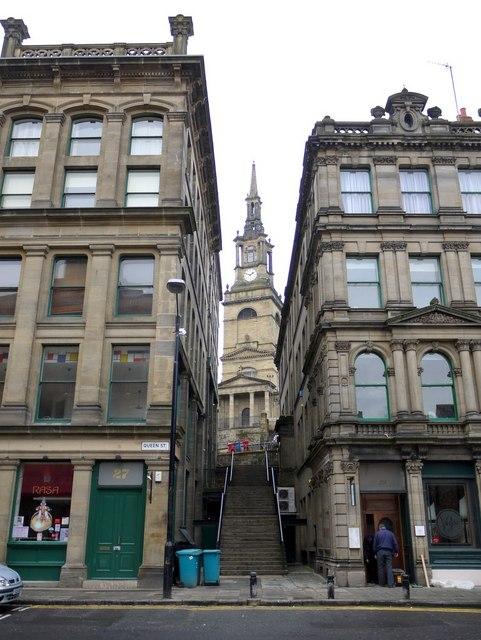All Saints Church from Queen Street
