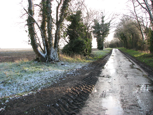 Cross Lane with a dusting of snow