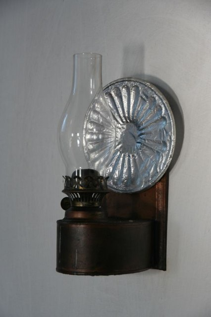 Oil lamp on the wall