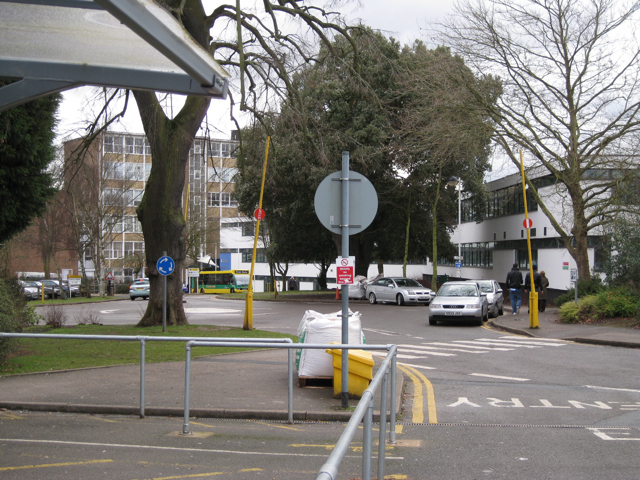 Warwickshire College, main building and approach