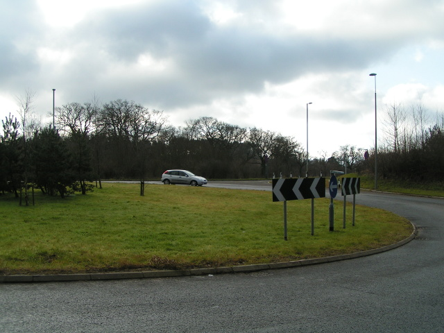 Roundabout at the A30 junction