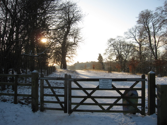 Gate into Hawarden Park