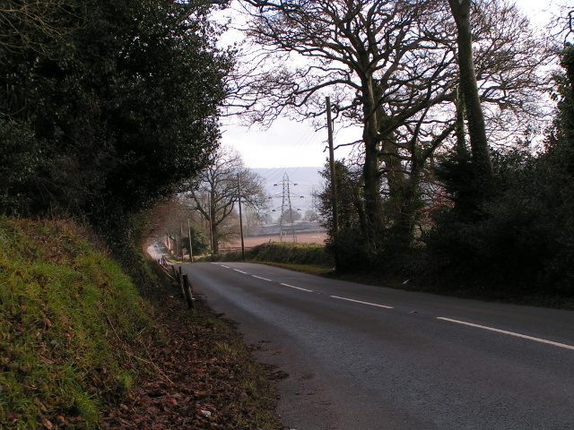 The road to Ottery St Mary
