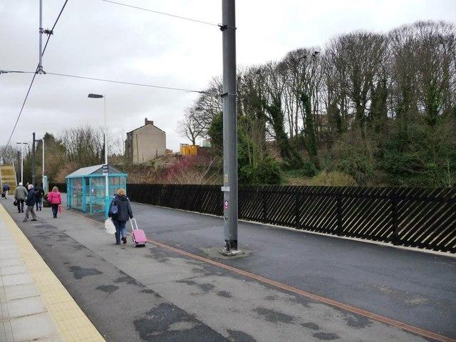 Northbound platform, Alnmouth for Alnwick Station