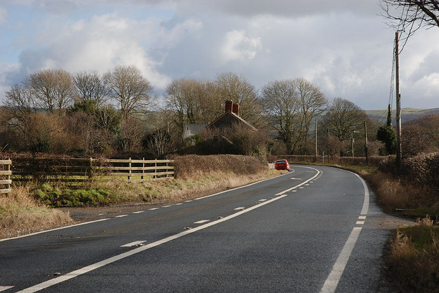 The A44 at Blaengeuffordd