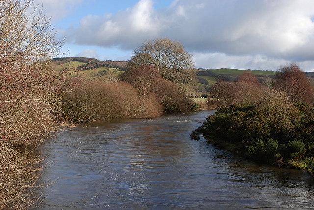 The Afon Rheidol in winter