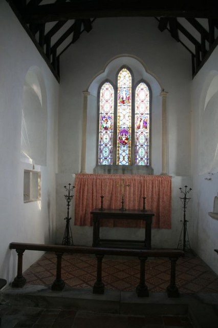 Looking down the chancel