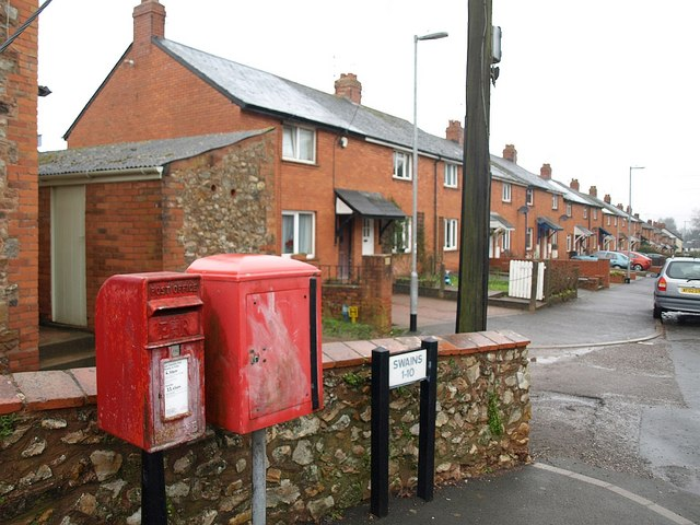 Postbox, Swains Lane, Wellington