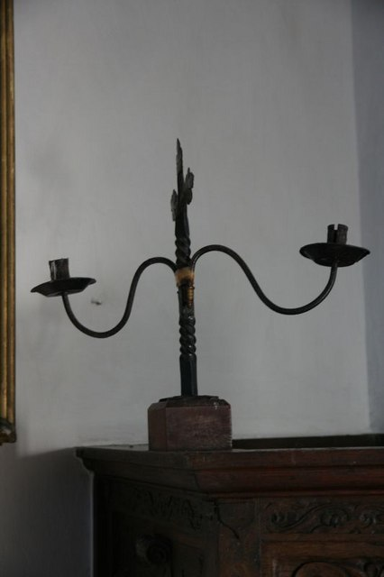Candle holder on the pulpit