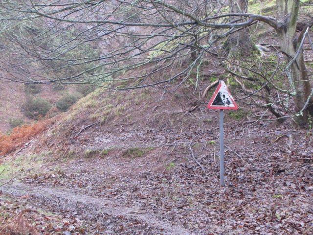 Warning sign, Disused quarry