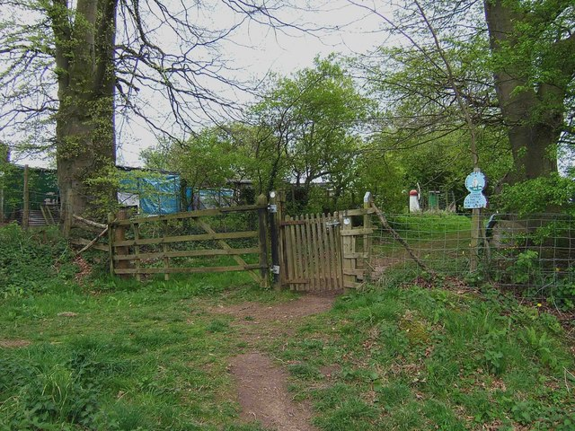 Footpath through the gate