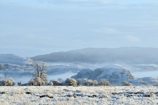 Winter view across the Moine Mhor