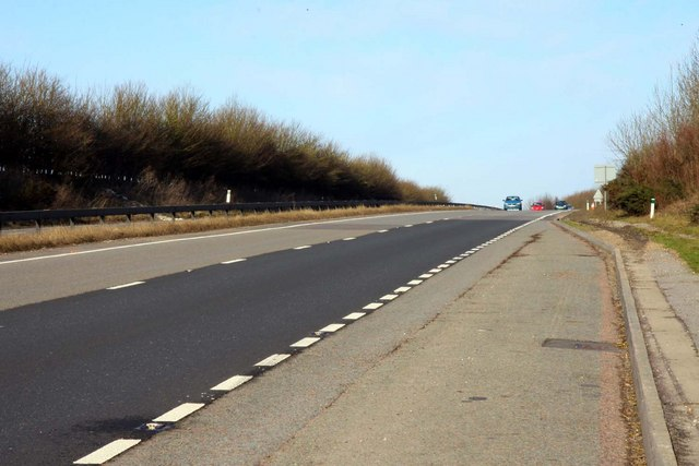 The A34 at the summit of Gore Hill