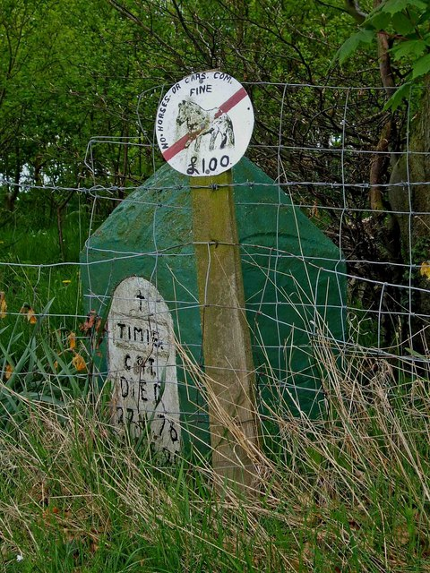 A sign and a grave