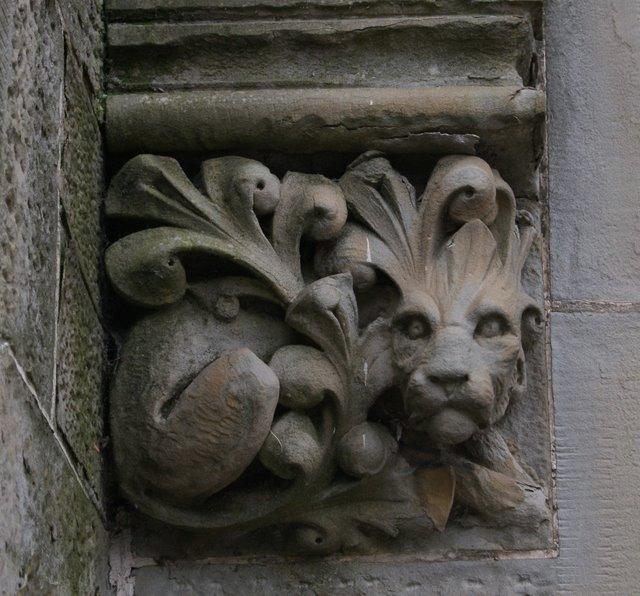 Church door carving