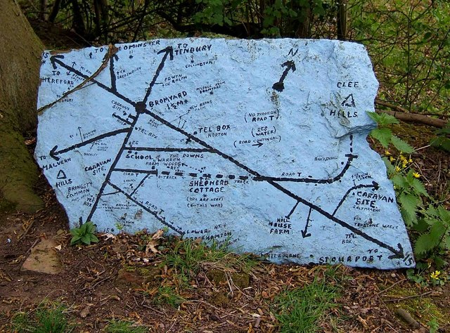 A map on a stone
