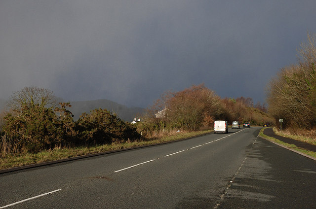 The A487 south west of Machynlleth