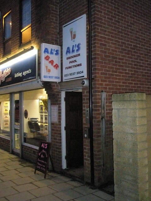 Entrance to Al's bar in West Street