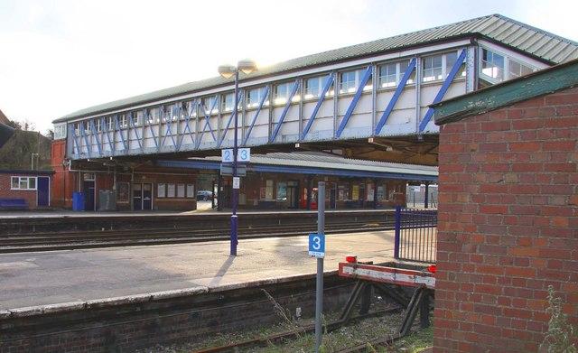 Footbridge at Newbury Station