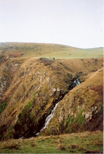 The Struey Water falling over the cliffs near Bennan Head