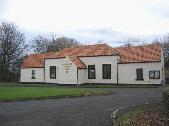 Middridge Village Hall County Durham