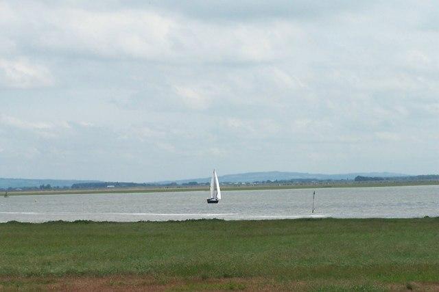 Sailing on the Ribble Estuary, near Lytham