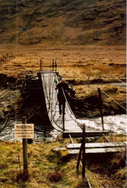 The footbridge at Carnoch