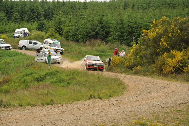 Rally testing near Glendevon