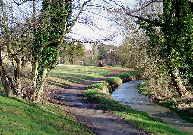 Wom Brook at Giggety in Wombourne, Staffordshire