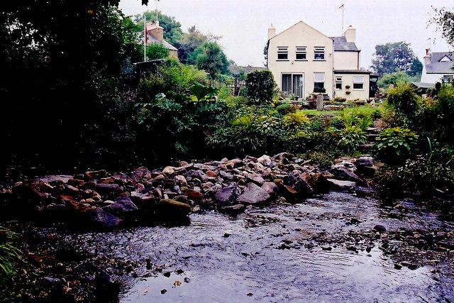 Ballasalla - Houses at east side of Monks Bridge