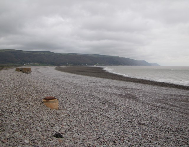 View along the beach, Porlock