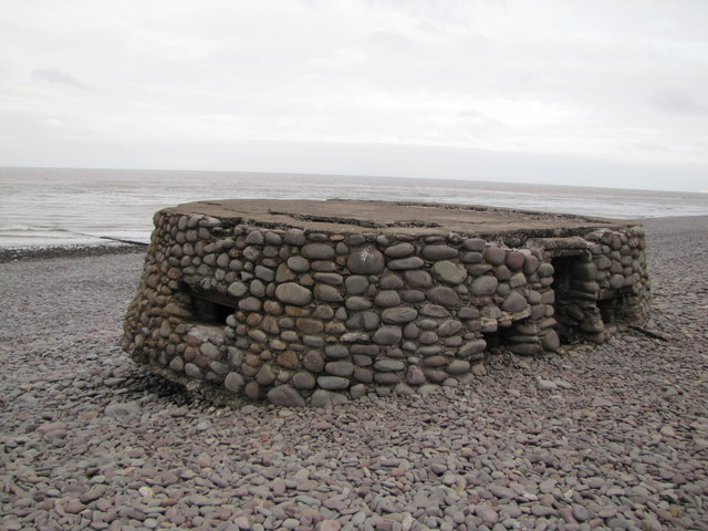 Pillbox, Porlock Beach