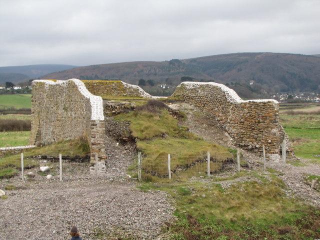 Ruins behind the beach, Porlock