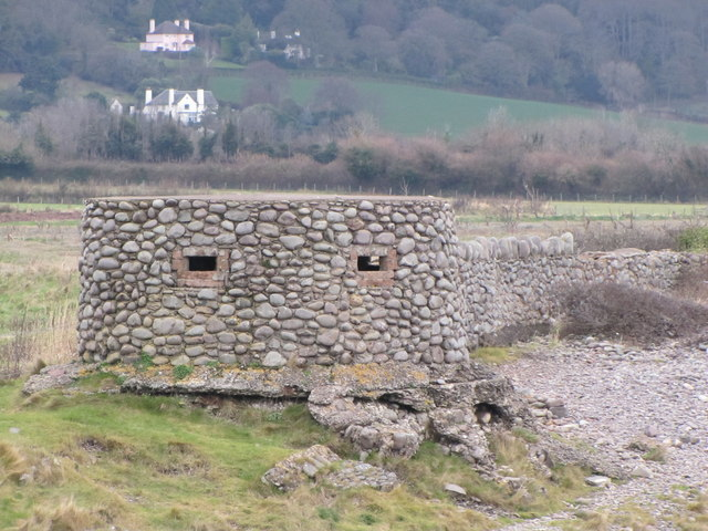 Pillbox behind the beach, Porlock Beach