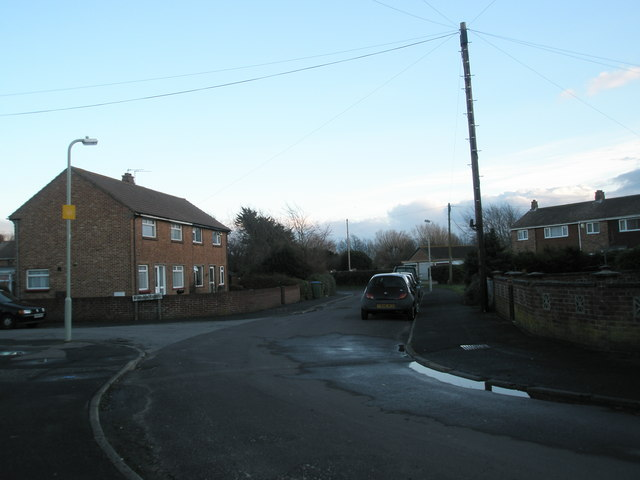 Junction of Norman Close and Castle View Road