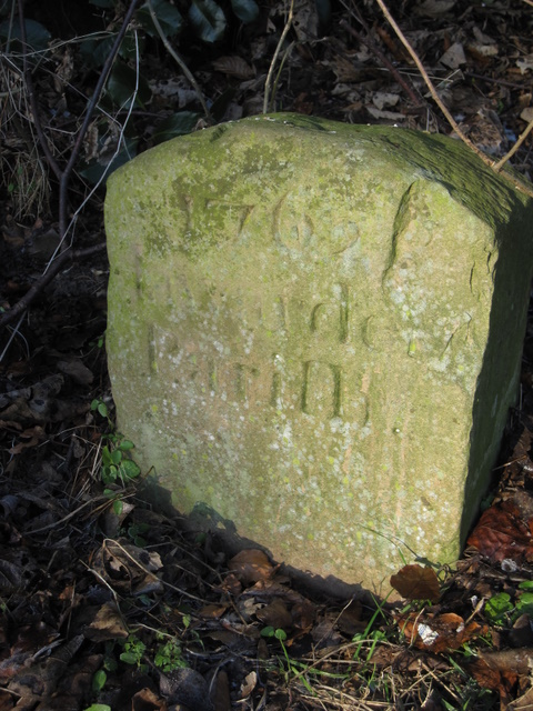 Boundary stone in Hawarden