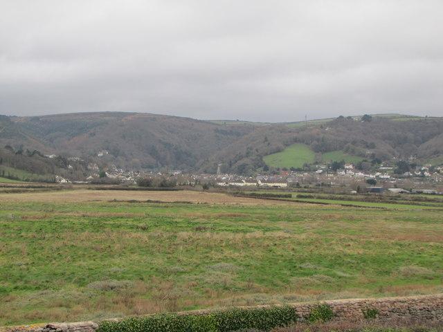 View towards Porlock from the beach